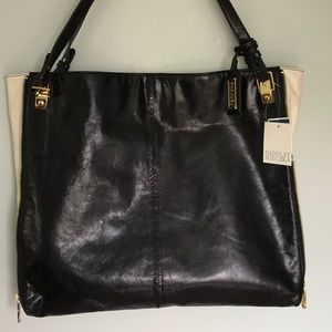 Badgley Mischka Lg Leather Lena Zipper Tote w bag